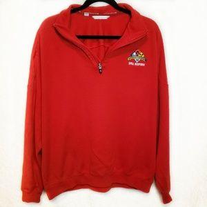 Cutter & Buck | Quarter Zip Red Sweater XL